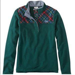 L.L. bean | Soft Cotton Rugby, Flannel-Trimmed L